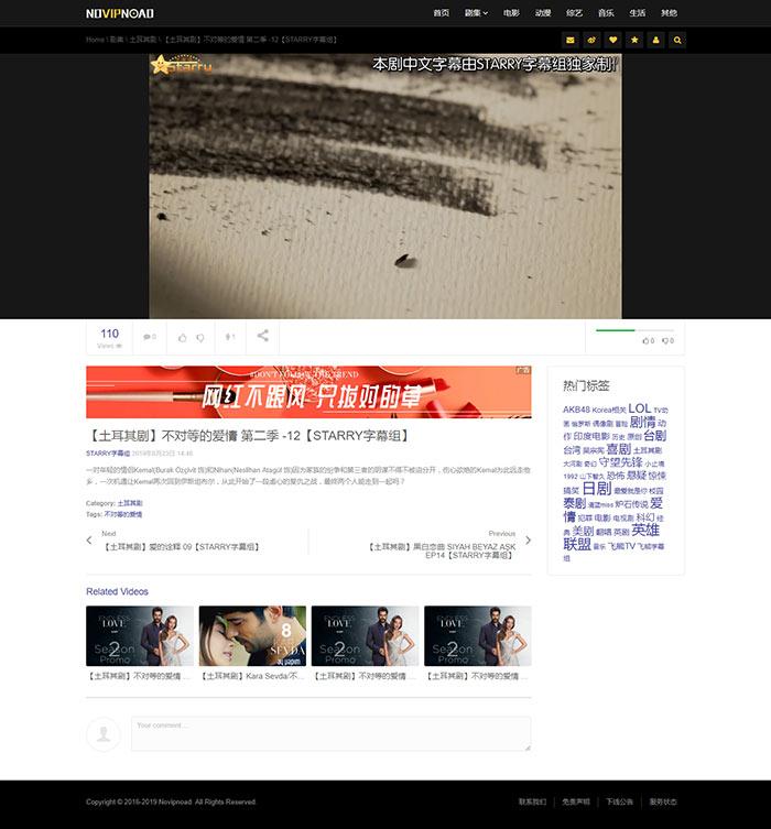 NO视频不负追剧好时光模板,小视频站点~ 定制-第4张